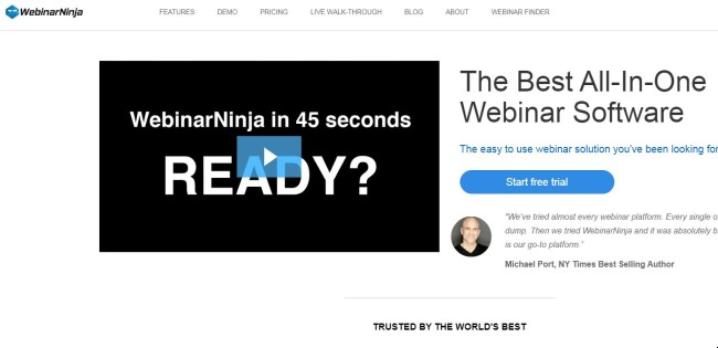 WebinarNinja Webinar software