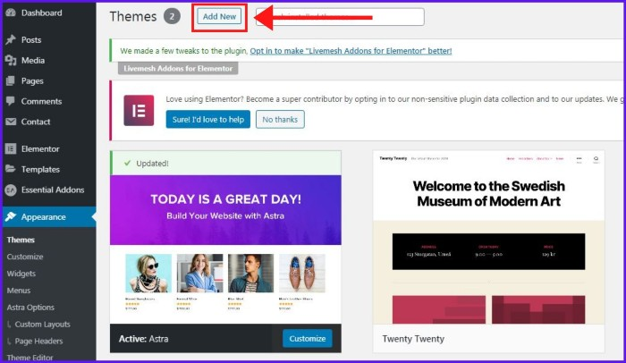 how-to-start-a-blog-add-new-theme