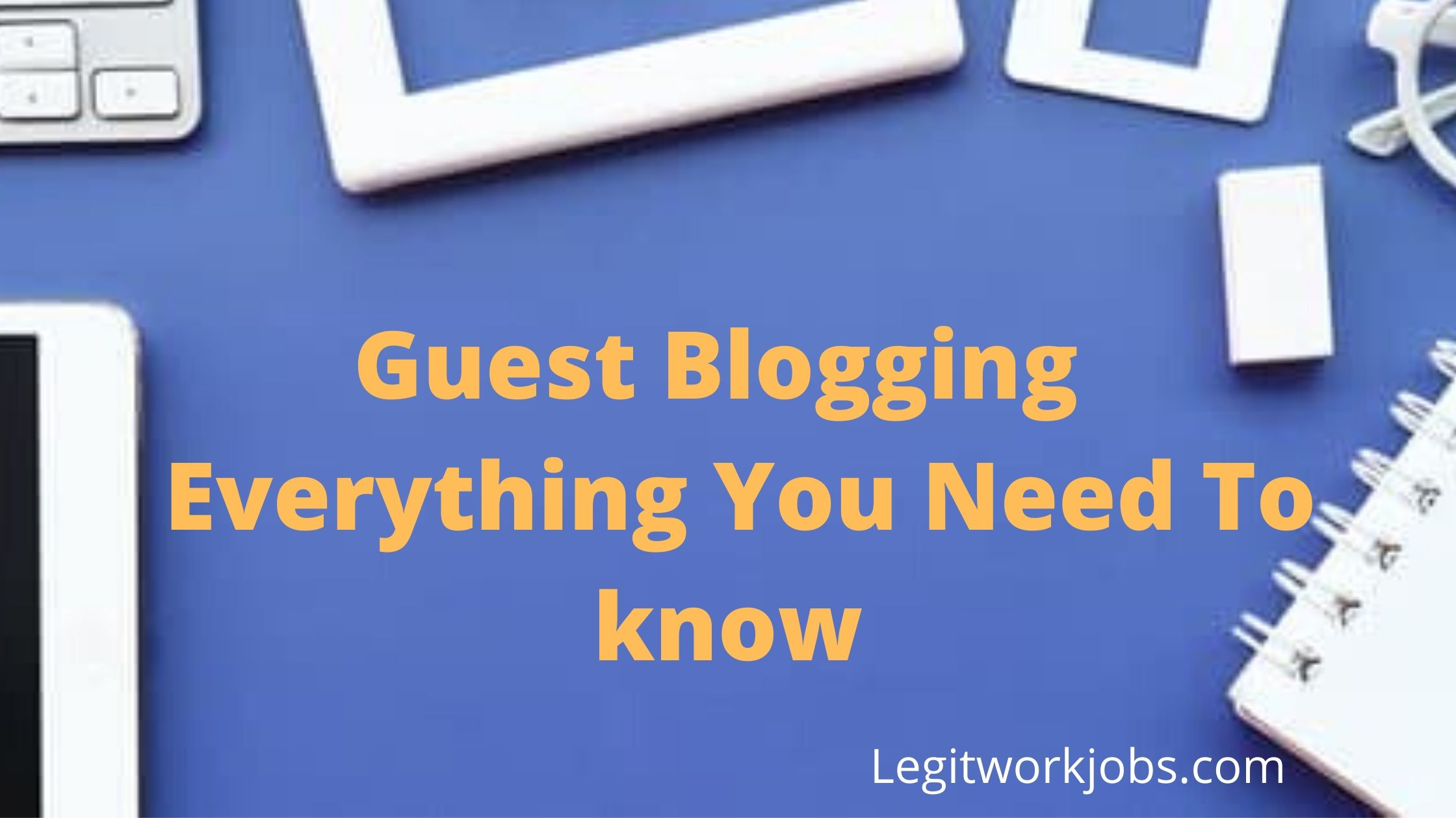 Simple Work Blog Banner