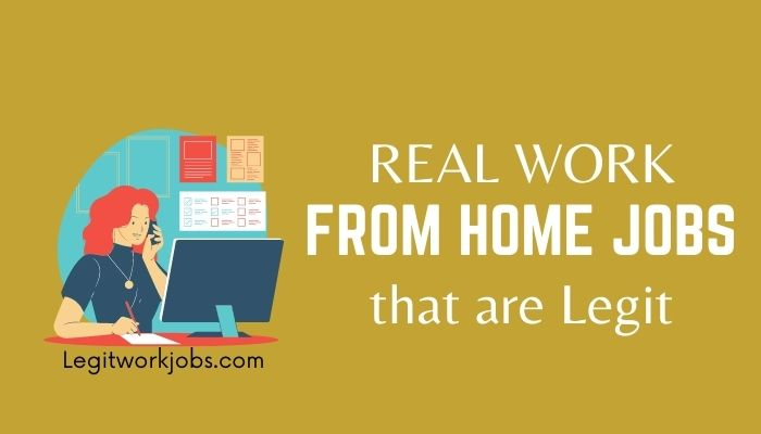 5 Real Work From Home Jobs that are Legit