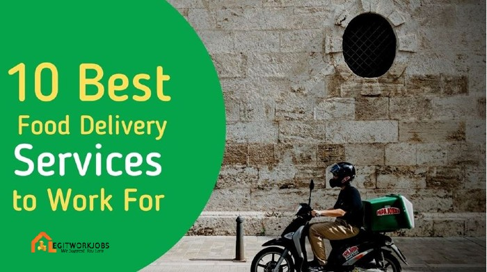 10 Best Food Delivery Services to Work For