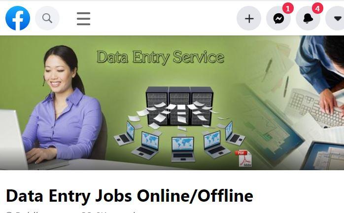 Facebook Group online data entery jobs