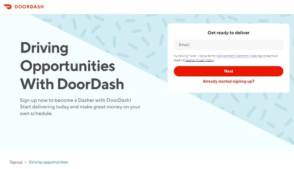 DoorDash Sign up, Driving, and Vehicle Requirements