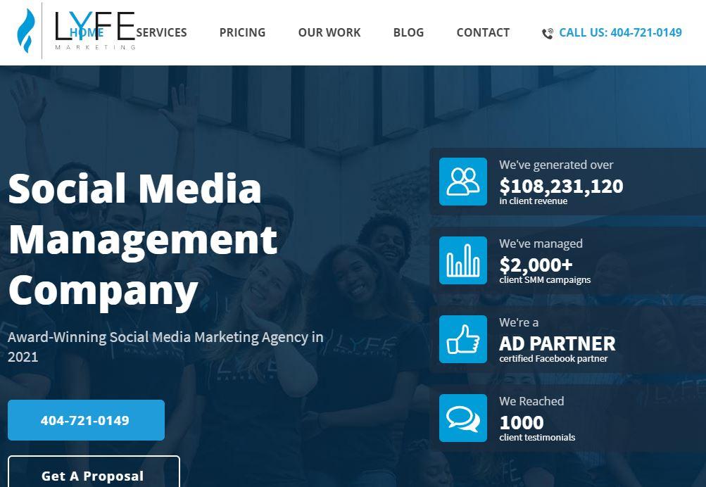 Lyfe Home Marketing Social Media Management Company