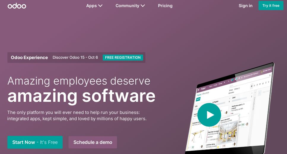 Odoo is one of the best free Inventory Management
