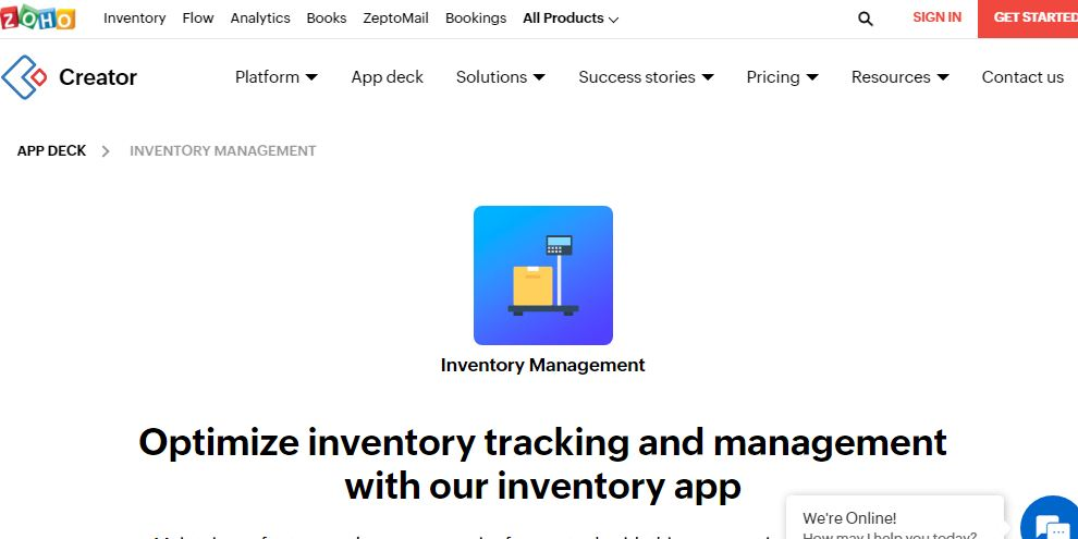 Zoho inventory is another cloud-based inventory management free software